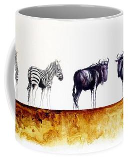 Zebra And Wildebeest Coffee Mug