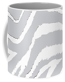 Zebra Animal Print Gray And White Coffee Mug