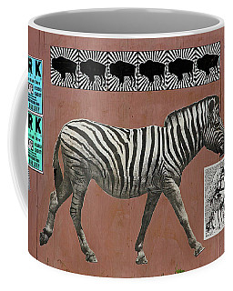 Coffee Mug featuring the photograph Zebra Collage by Art Block Collections