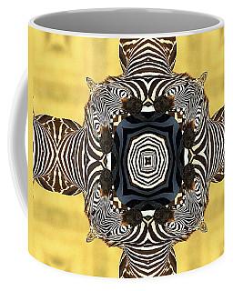 Zebra Cross Coffee Mug by Maria Watt