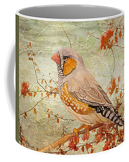 Zebra Finch Among Almond Trees Coffee Mug