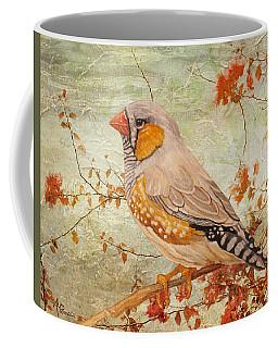Zebra Finch Among Almond Trees Coffee Mug