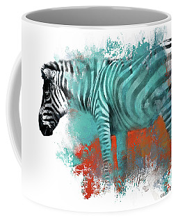 Zebra In Color Coffee Mug by Kathy Russell
