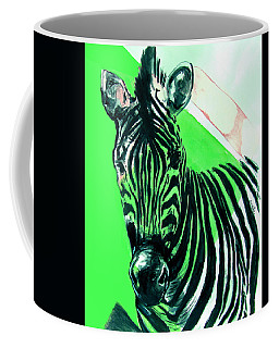 Zebra In Green Coffee Mug