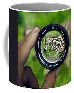 Zebra Lens Coffee Mug