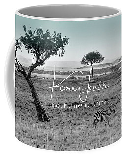 Zebra Mother And Child On The Mara Coffee Mug by Karen Lewis