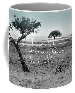 Zebra Mother And Child On The Mara Coffee Mug
