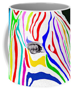 Coffee Mug featuring the painting Zebra Nothing Is Black And White by Mark Taylor
