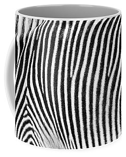 Zebra Print Black And White Horizontal Crop Coffee Mug