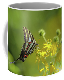 Coffee Mug featuring the photograph Zebra Swallowtail Butterfly by Lori Coleman