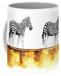 Zebra Trio - Original Artwork Coffee Mug