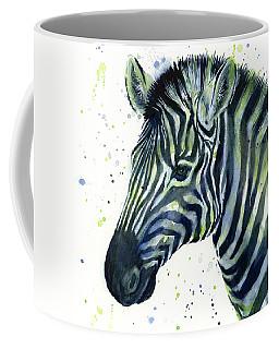 Zebra Watercolor Blue Green  Coffee Mug
