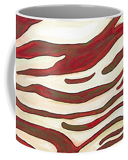 Zebra Zone - Color On White Coffee Mug by Sheron Petrie