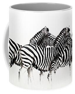 Zebras - Black And White Coffee Mug