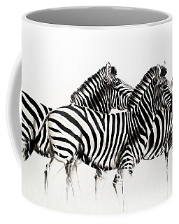 Zebras - Black And White Coffee Mug