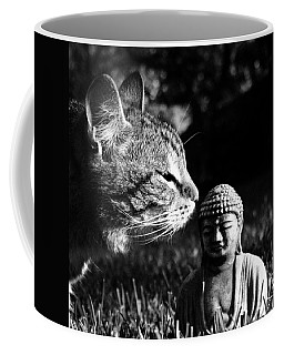Zen Cat Black And White- Photography By Linda Woods Coffee Mug