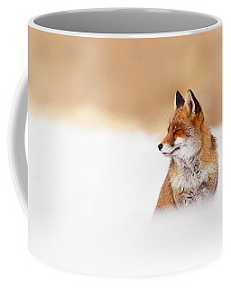 Zen Fox Series - Zen Fox In Winter Mood Coffee Mug