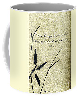 Zen Sumi 4d Antique Motivational Flower Ink On Watercolor Paper By Ricardos Coffee Mug