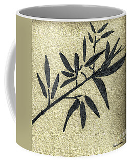 Zen Sumi Antique Botanical 4a Ink On Fine Art Watercolor Paper By Ricardos Coffee Mug