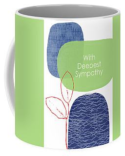 Coffee Mug featuring the mixed media Zen Sympathy Card- Art By Linda Woods by Linda Woods