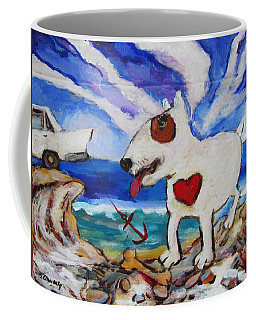 Zephyr Dog Goes To The Beach Coffee Mug by Dianne  Connolly