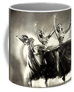 Ziegfeld Model  Dancers By Alfred Cheney Johnston Black And White Ballet Coffee Mug