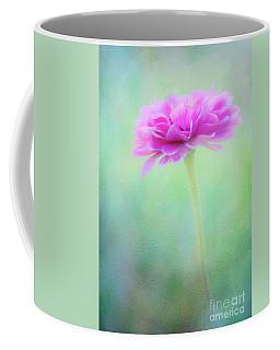 Painted Pink Zinnia Coffee Mug