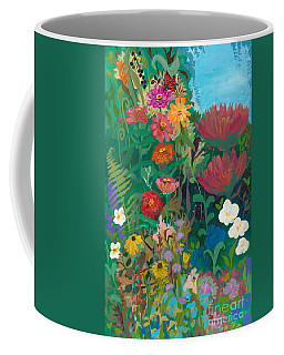Zinnias Garden Coffee Mug by Robin Maria Pedrero