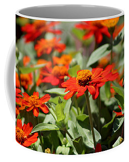 Zinnias In Autumn Colors Coffee Mug