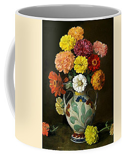 Zinnias In Decorative Italian Vase Coffee Mug