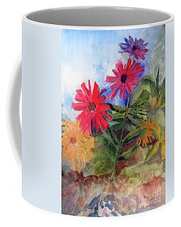 Zinnias In The Garden Coffee Mug by Sandy McIntire