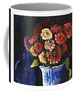 Zinnias Coffee Mug by Marlene Book
