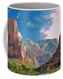 Zion Cliffs Coffee Mug by Walter Colvin