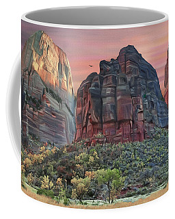 Zion National Park Sunset Coffee Mug by Walter Colvin