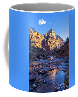 Zion National Park Virgin River Reflects Coffee Mug