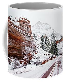 Zion Road In Winter Coffee Mug