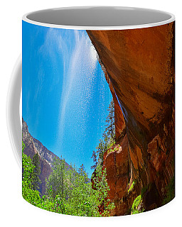 Coffee Mug featuring the photograph Zion - Under The Falls by Dany Lison