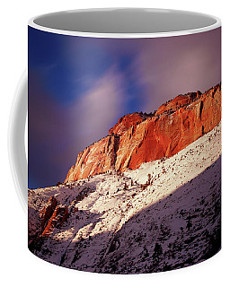 Zion's East Temple At Sunset Coffee Mug
