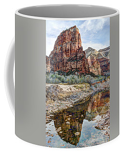 Zions National Park Angels Landing - Digital Painting Coffee Mug