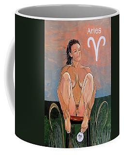 Coffee Mug featuring the painting Zodiac Series_ Aries by Lazaro Hurtado