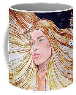 Coffee Mug featuring the painting Zodiac Series_ Leo by Lazaro Hurtado