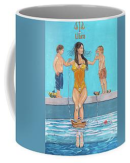 Coffee Mug featuring the painting Zodiac Series_ Libra by Lazaro Hurtado
