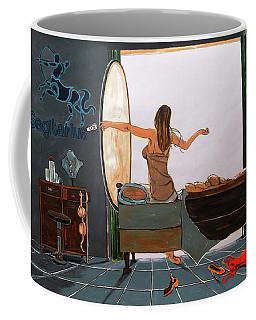 Coffee Mug featuring the painting Zodiac Series_ Sagitarius by Lazaro Hurtado