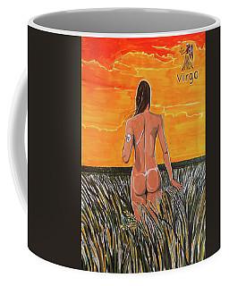 Coffee Mug featuring the painting Zodiac Series_ Virgo by Lazaro Hurtado