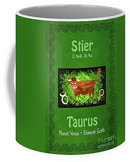Zodiac Sign Taurus - Stier Coffee Mug
