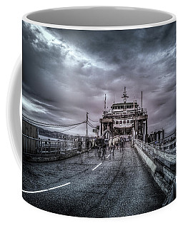 Coffee Mug featuring the photograph Zombie Ferry Ride by Spencer McDonald