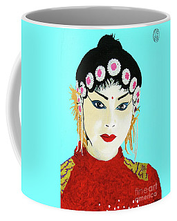 Coffee Mug featuring the painting Zui Meili De by Roberto Prusso