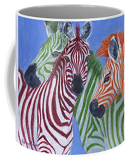 Coffee Mug featuring the painting Zzzebras by Jamie Frier