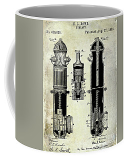 1889 Fire Hydrant Patent Coffee Mug