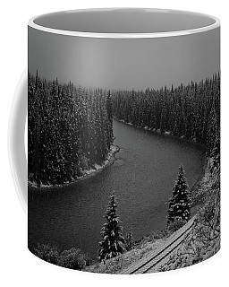 A View From The Side Of The Bow Valley Parkway, Banff National P Coffee Mug